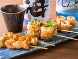 九州の食材を中心のお料理の数々。