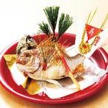 祝小鯛塩焼き