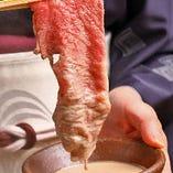 お肉は煮すぎず、薄桃色くらいが特においしい状態でございます