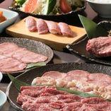 いろいろ食べるならコースがお得◎焼肉のほか、キムチや野菜も