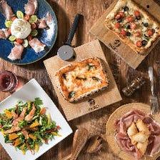 【料理のみ:宴会×飲み会】サクサクの手作りピザに、PASKO名物スペアリブも楽しめる!『1,628円コース』