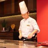 【お肉に海鮮♪】鉄板焼きを堪能!ステーキフルコース6500円