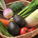 地元野菜にこだわって厳選素材で 『地産地消』。