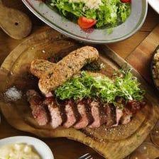 溢れる肉汁が◎たっぷりの肉料理