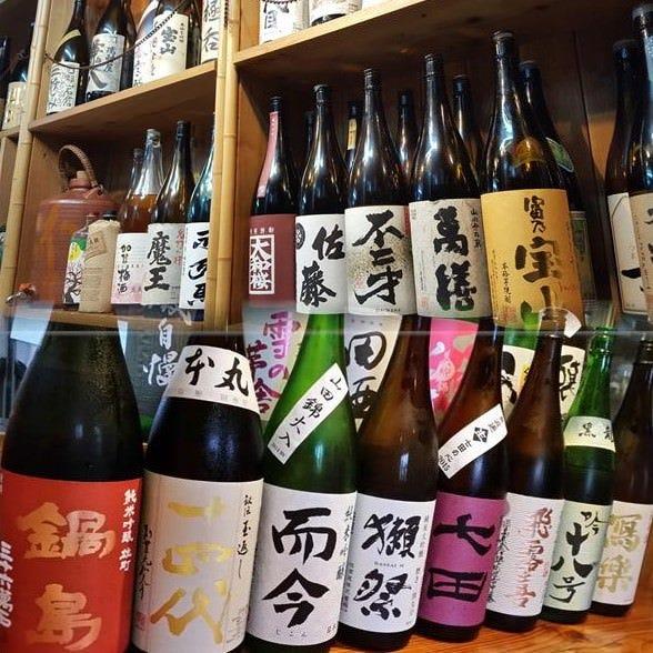 ◆豊富な地酒と数十種類の焼酎