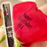 【主役の貴重な思い出を!】  メッセージ付きのバラの花をプレゼント!