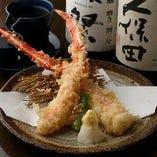 タラバガニの天ぷら(焼き)