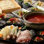 お造りや焼き物、茶碗蒸し、豚肉トマト鍋も!リーズナブルな『トマト鍋コース』〈全8品〉3,000円