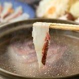 絶品の鯛出汁しゃぶしゃぶは優しい味わいが口中に溢れ出します◎