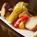 旬味が愉しめる焼き野菜