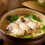 牡蠣の美味しい出汁たっぷりの土鍋ごはん