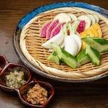三浦半島直送 有機野菜のディップ 3種の嘗め味噌で