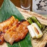 豚バラ味噌漬け焼き