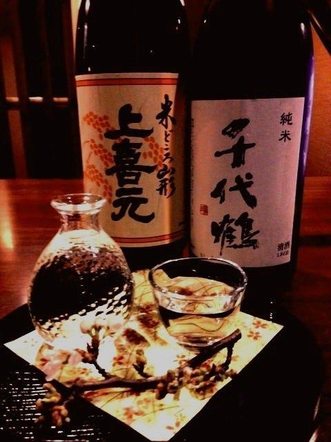 富山の地酒を常時10~15種ご用意