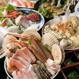 【海鮮吾作鍋コース】迷った時は♪ジャスト5,000円!特製和風だしが自慢のよせ鍋を囲んで宴会