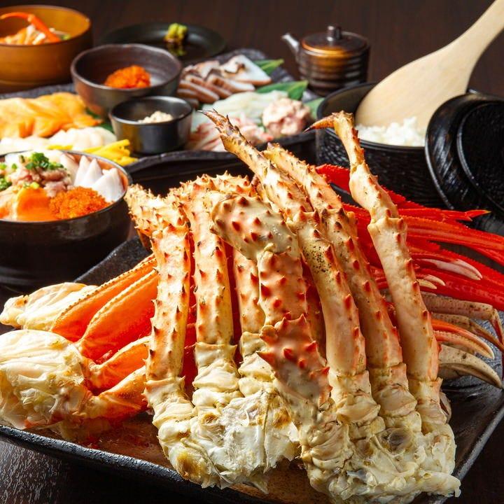 カニ・のっけ放題海鮮丼・盛り放題手巻き寿司