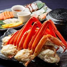 新◆ズワイ蟹・のっけ放題海鮮丼・選び放題手巻き寿司6,480円(税込)