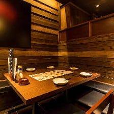 2名様~団体様で利用可能な完全個室