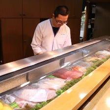 職人が目の前で握る本格的な寿司