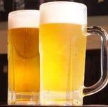 生ビールも用意しています。