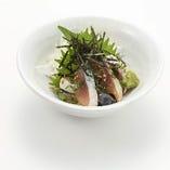 人気のゴマサバ※サバの休漁の場合はカンパチでのご提供とさせていただきます。