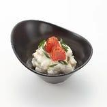 炙り明太子のポテトサラダ 炙った明太子の食感とポテトサラダが良く合います。