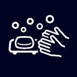 スタッフの出勤時の検温と手洗い・手指消毒の徹底