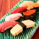 単品のお寿司は1個 110円(税込)~