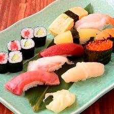 豊洲市場直送の海の幸をお寿司に。