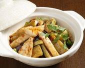 なすと鶏肉のマーボー土鍋