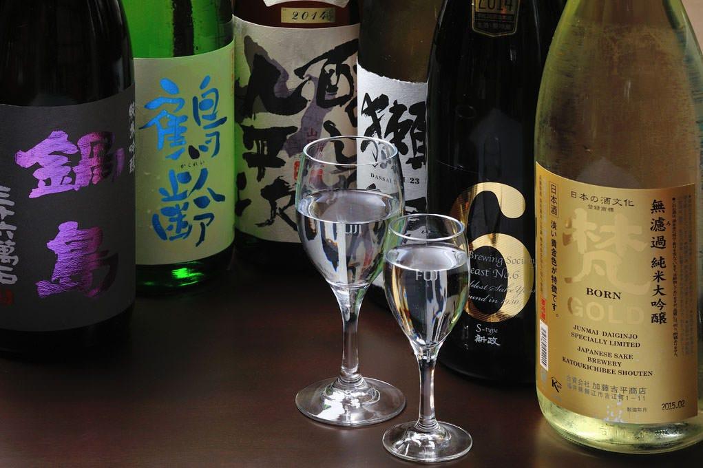 ◆純米地酒 50種類 ピュアな日本酒