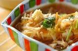 ≪合 肴≫    豆腐と胡麻豆腐の野菜餡かけ