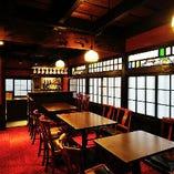 ◆2席テーブル席12~14名貸切可 落ち着いてお食事して頂けます