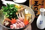 ◆純系名古屋コーチン 美酒鍋コース ※秋冬限定 ※予約限定の名古屋コーチンを使った贅沢なお鍋