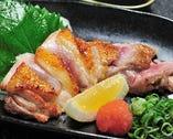 ◆名古屋コーチンもも肉のたたき
