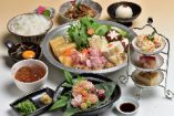 ◆純系名古屋コーチン 鶏コラーゲン鍋コース プルプルのコラーゲンと生姜で美肌効果抜群!<秋冬限定>