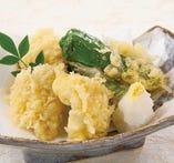 ●鱧と秋野菜の天ぷら