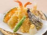 ●海老団子と野菜の天ぷら
