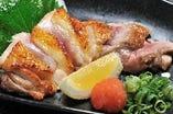 ●純系名古屋コーチンもも肉タタキ