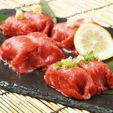 ◇黒毛和牛の肉寿司