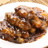 【4】カキの黒豆炒め