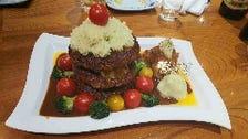 とまり木の自家製ハンバーグで作る☆ハンバーグケーキ☆