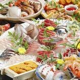 【料理のみ】伊勢海老が入った海鮮鍋、刺身、海老塩焼…など海の幸を堪能!月の宴コース[全9品]