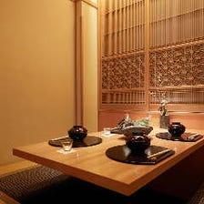 ご接待・ご会食に上質な完全個室席