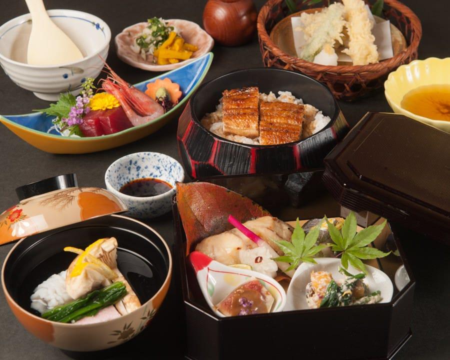 旬を楽しめる会席料理やお膳料理