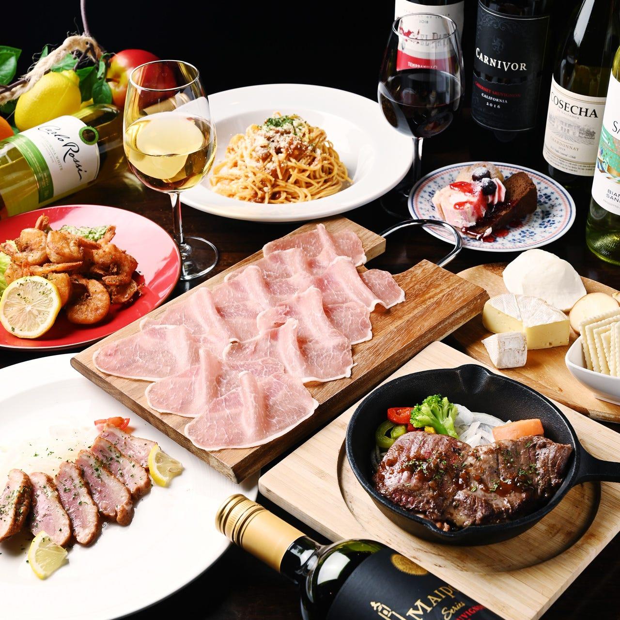 北海道産の生ハム食べ放題付きコース