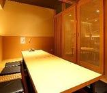 完全個室は少人数からご利用いただけます。