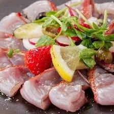 新鮮鮮魚のカルパッチョ