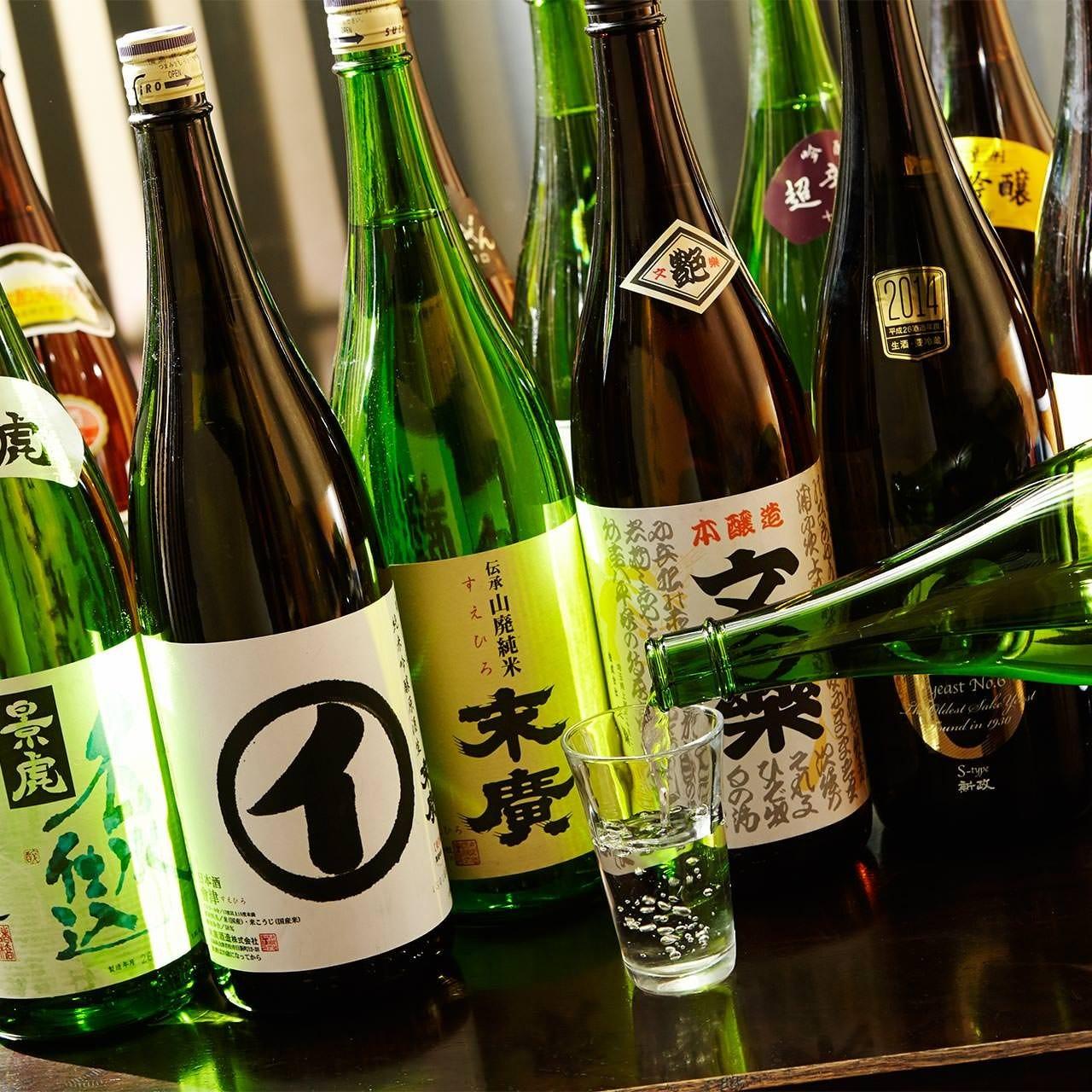 ◆厳選された40種類の日本酒を用意◆