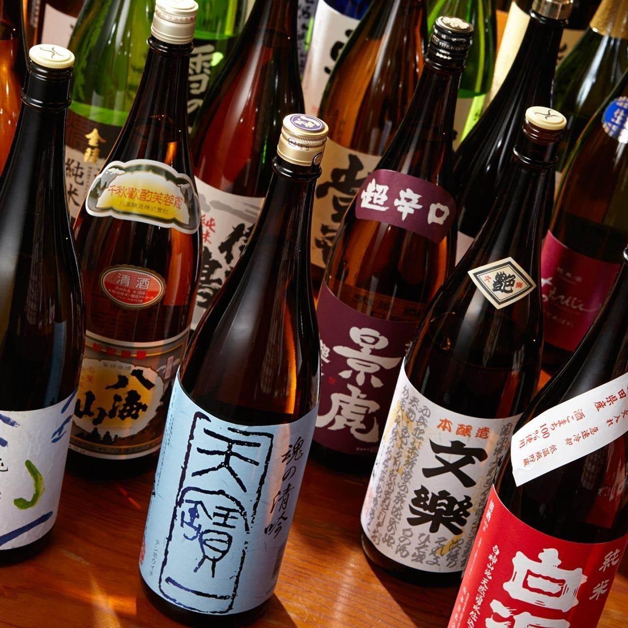 ◆虎連坊自慢の地酒約20種飲み放題◆